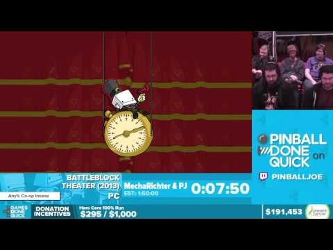 BattleBlock Theater by PJ and MechaRichter - Awesome Games Done Quick 2016 - Part 28 [1440p]