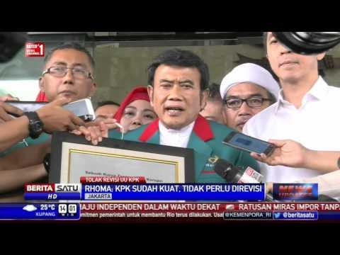 Ketum Partai Idaman Rhoma Irama Tolak Revisi UU KPK