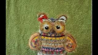 Живые вязанные игрушки: Сова Марфуша