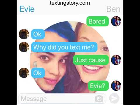 WHAT? Ben has a crush on Evie? (TextingStory)