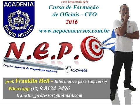 Concurso publico: Barro Brancor-SP-2 semestre 2016( Questões Informatica)