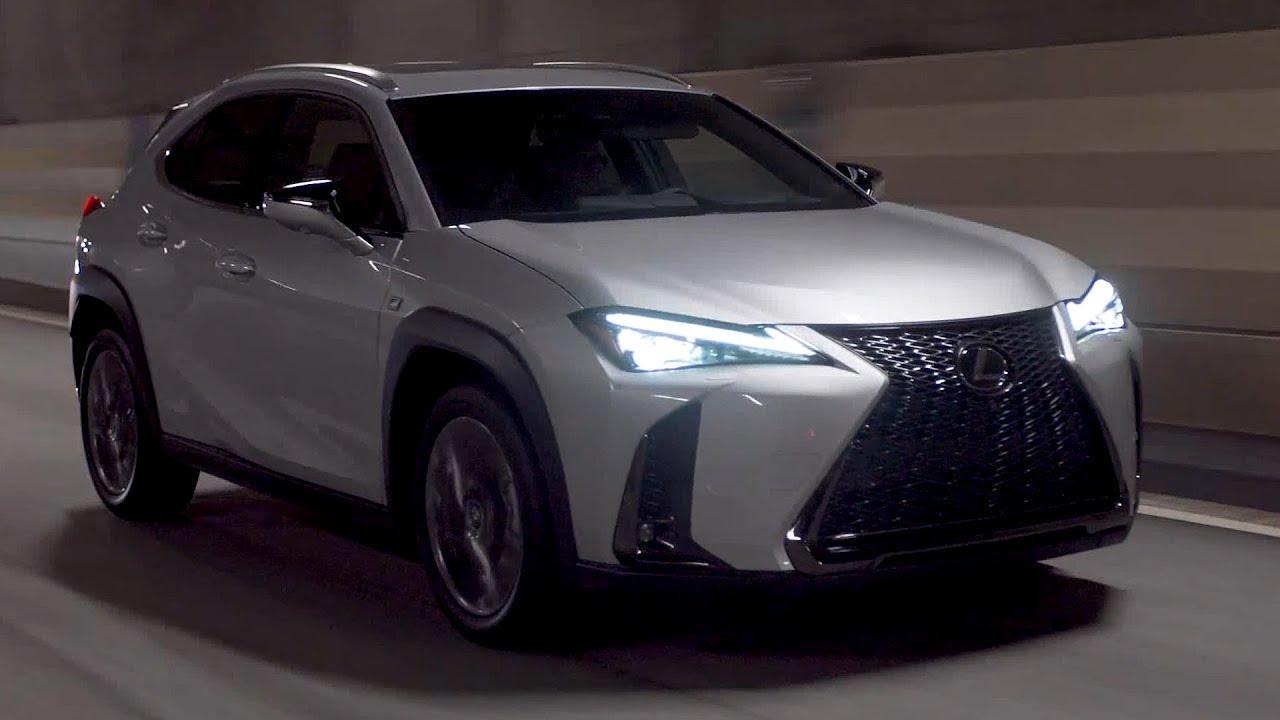 2019 lexus ux 200 f sport platinum silver driving interior exterior us spec