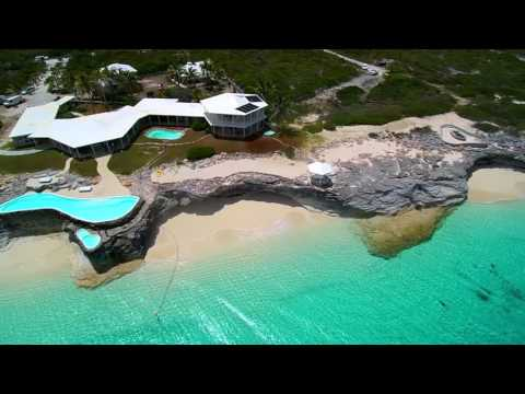 Bahamas beachfront home for sale on San Salvador.