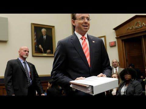 Republican lawmakers move to impeach Deputy Attorney General Rod Rosenstein