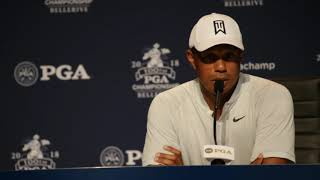 Tiger Woods addresses the comeback question at 2018 PGA Championship