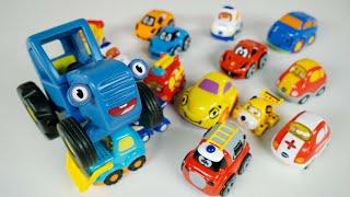 Учим цвета - Поиграем в Синий трактор и разные машинки