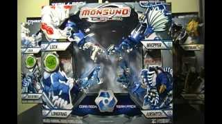 Opening a Monsuno Toy Figure 4-pack with Red Diamond Elemental Lock