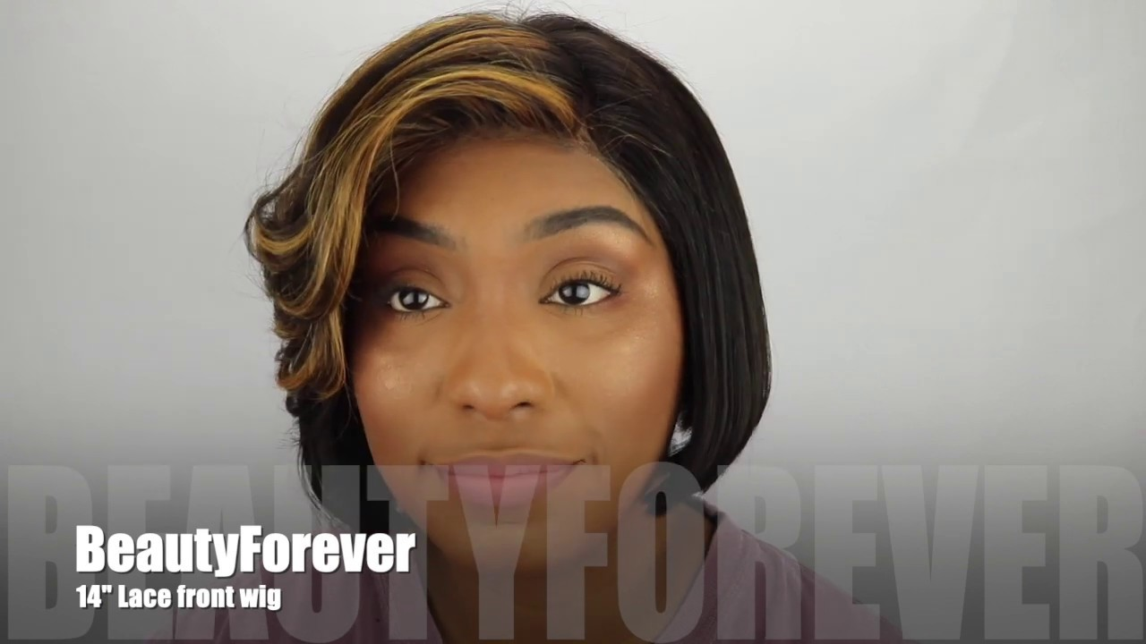 BeautyForeverHair  Amazon Inexpensive Hair Review! Blunt Bob Cut w/ Copper Highlights