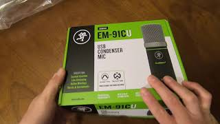 Mackie EM-91CU USB Condenser Mic Review and Unboxing