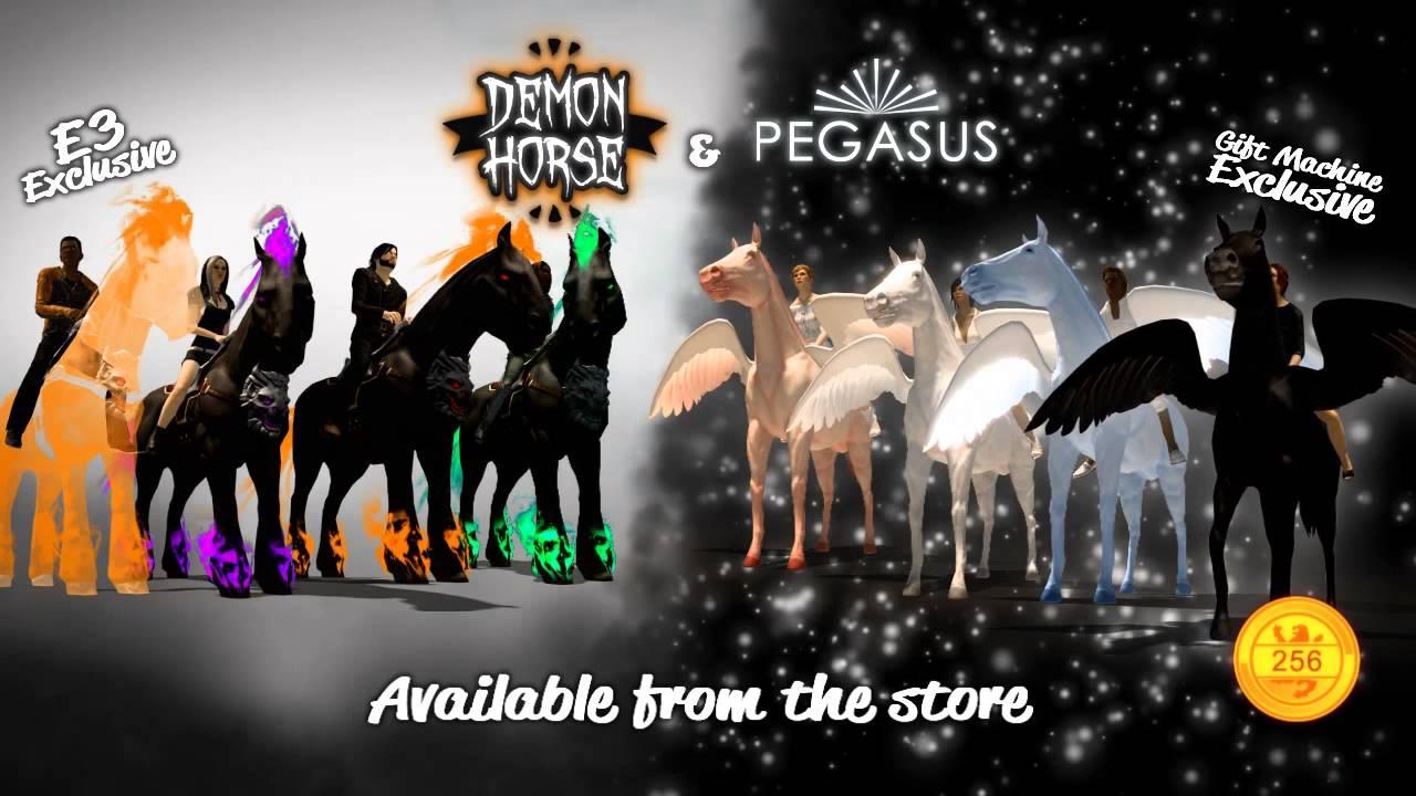 Pegasus Demon Horse Mounts Playstationhome Youtube