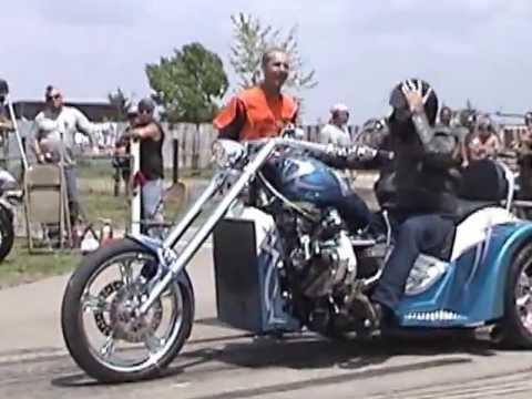 Smokin V8 Chopper Trike Blown 427 Wild Burnouts At Hog Wild Rodeo