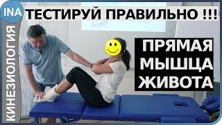 Мышечное тестирование. Прямая мышца живота. Кинезиология в Германии. Обучение