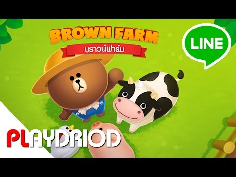 LINE BROWN FARM 30 Mins Mobile Gameplay [Android/iOS Games] FULL HD
