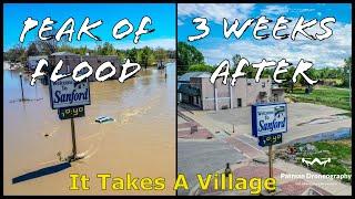 Sanford Midland Flood - Comparison Shots - Drone - Patman Droneography