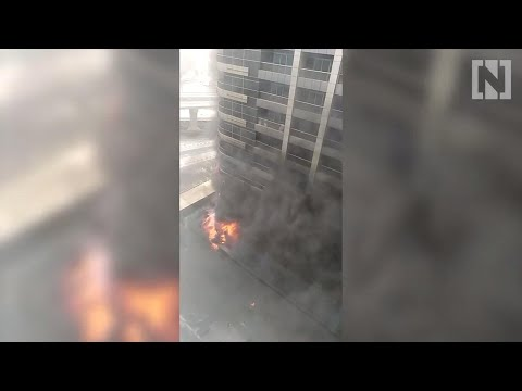 Fire rips through Dubai tower