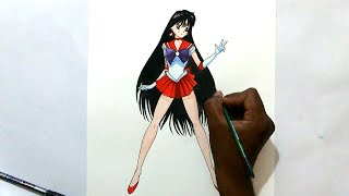 how to draw sailor mars from sailor moon crystal