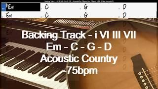 backing track   i vi iii vii   em c g d   acousticctry 75bpm