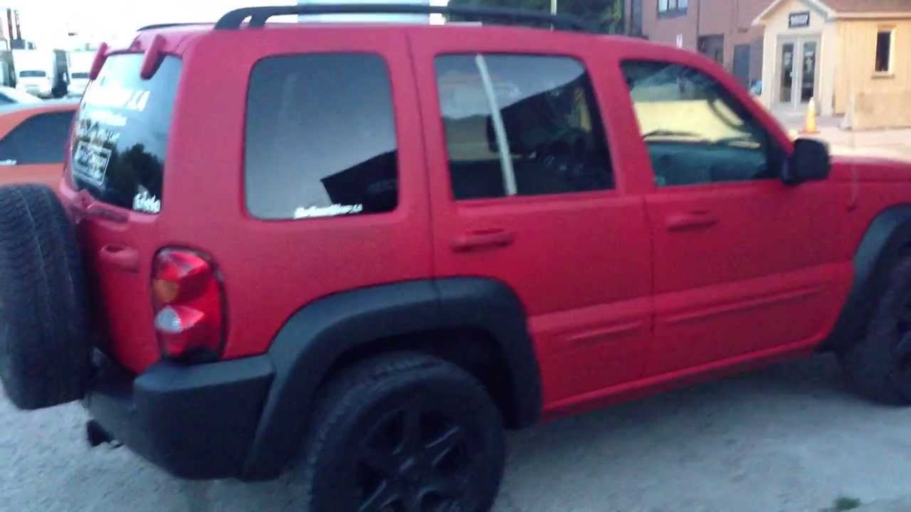 Matte Red With Black Trim Jeep Liberty By Dipyourwhip Ca