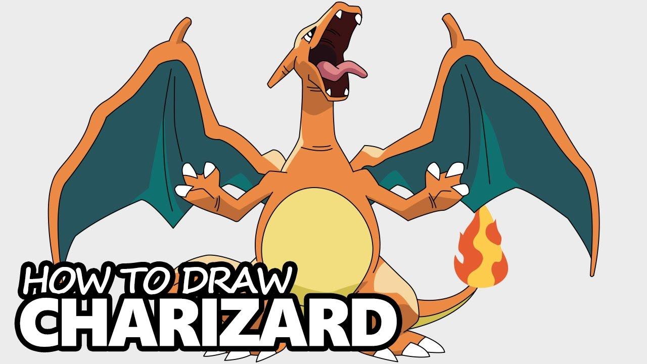 Como Desenhar O Charizard Passo A Passo Online E Facil Mestre
