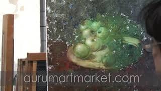 Видео урок живописи - Дикие зеленые яблочки