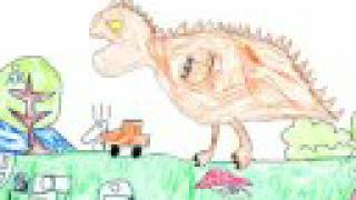 "My son is 5 years old. He've made his own world, and creat a origianl ""dinosaur"" character. For my son, I made this animation(CG creat:2008.July) 5歳の息子が ..."