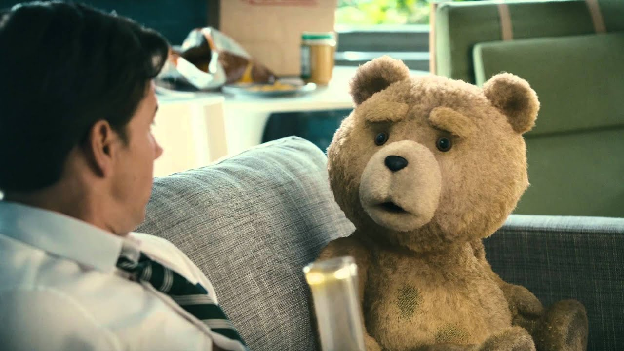 """Ted - Restricted Clip: """"John takes a hit of Ted's new weed ..."""