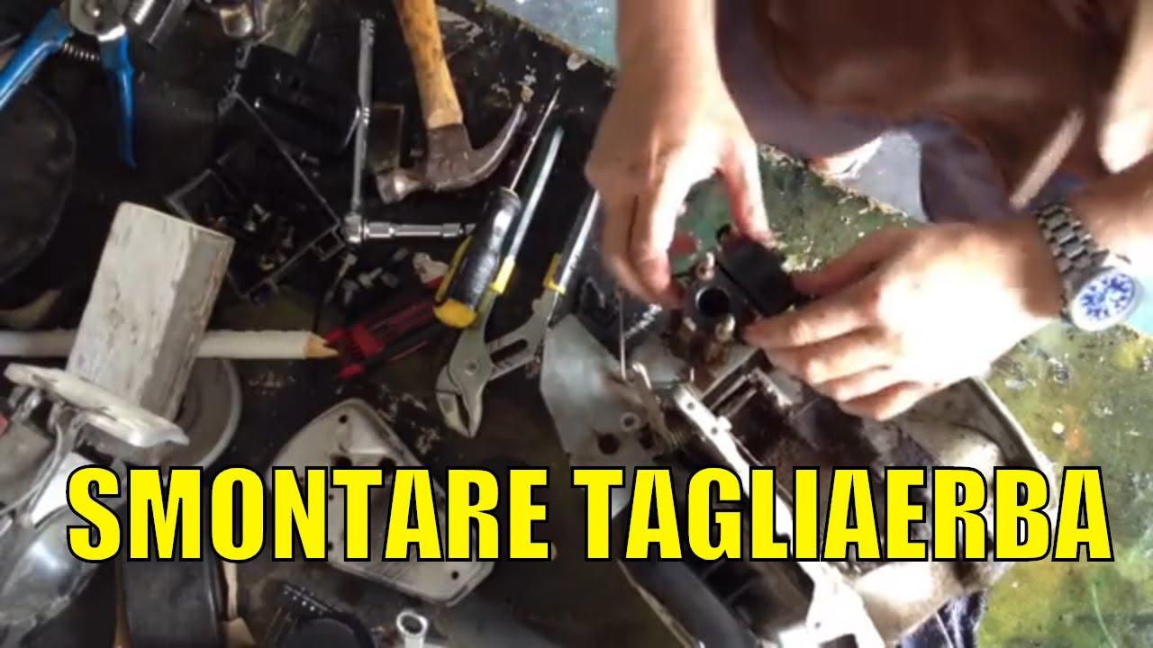 Schema Elettrico Trattorino Tagliaerba : Smontaggio tagliaerba spataccare motore del