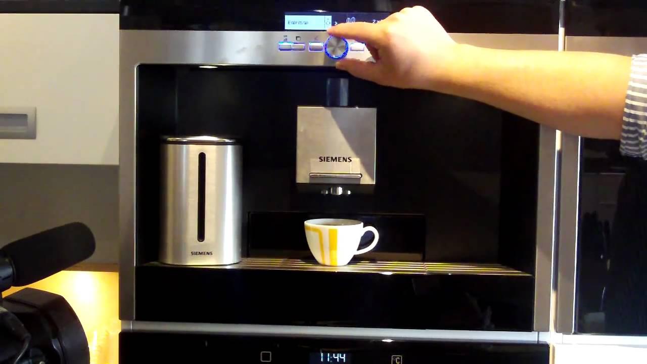 Koffiemachine De Keuken : Koffiemachine demonstratie in een nieuwe keuken youtube