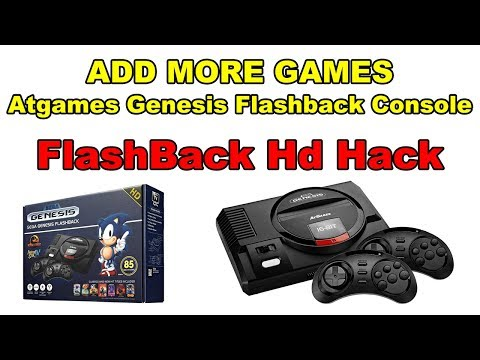 Add More Games Sega Genesis Flashback HD Atgames Hack