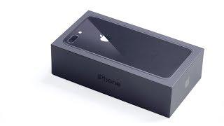 Честная распаковка черного iPhone 8 Plus