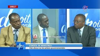 DROIT DE REPONSE DU 20 /01/19( AFFAIRE GBAGBO, PRESIDENTIELLE  EN RDC, CONSEIL DES MINISTRES)