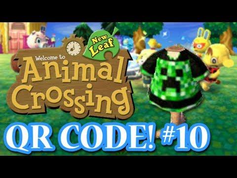 ANIMAL CROSSING: NEW LEAF - QR CODES - CREEPER SHIRT! (EPISODE 10)