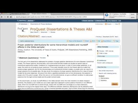 Find Dissertations and Theses via the ProQuest Dissertations Database