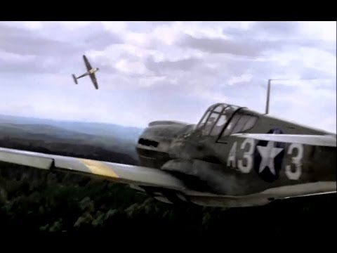 """Scene from """"Red Tails"""". Bf 109 vs P-40."""