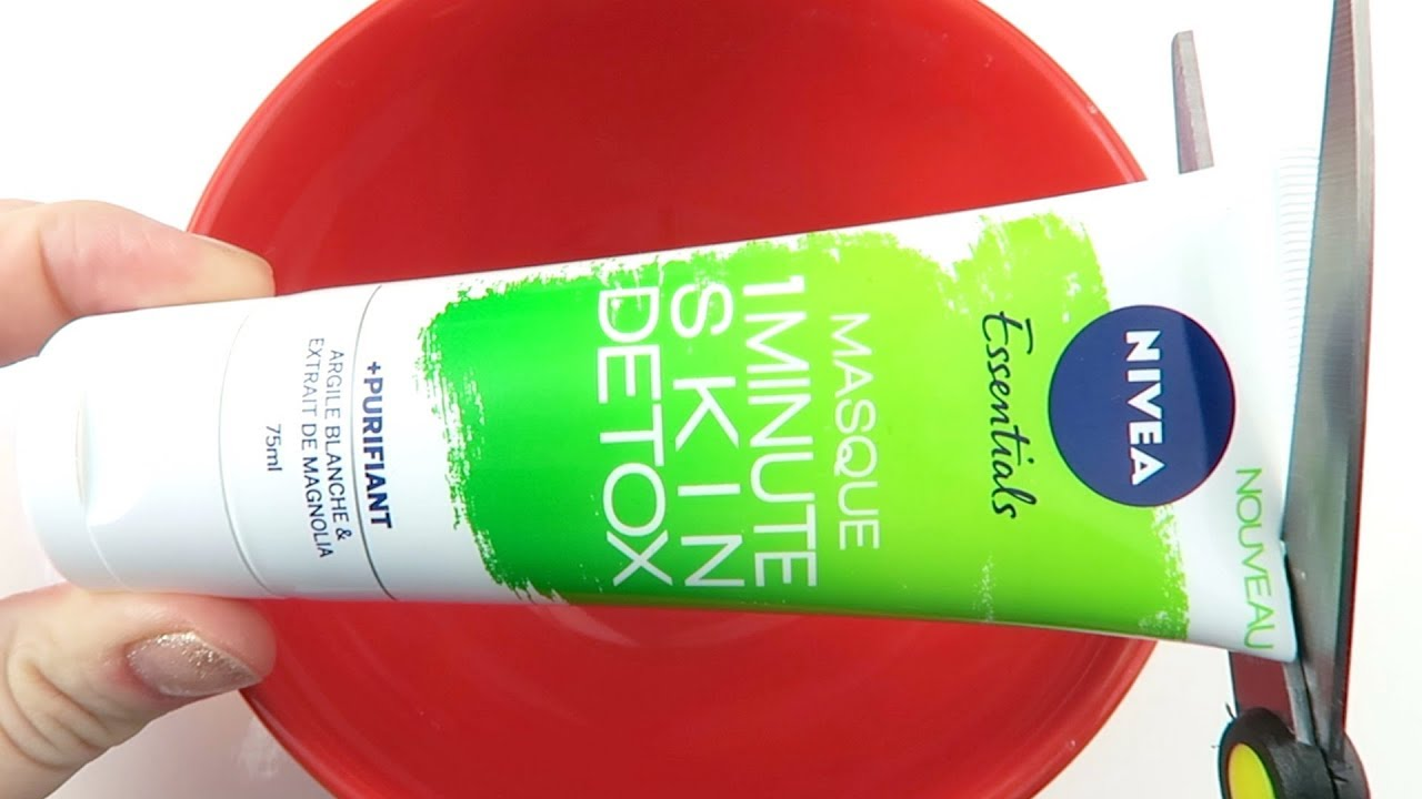 Will It Slime? Nivea Skin Detox Mask! Satisfying ASMR Video!