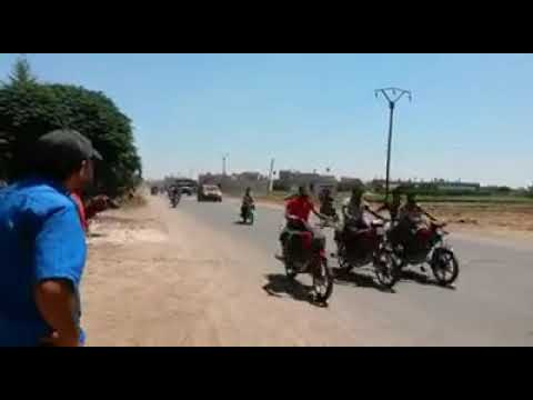 SYRIA:THE MOMENT WHEN THE RUSSIAN MILITARY POLICE ENTER IN TAFAS/TAFS TOWN IN DARAA
