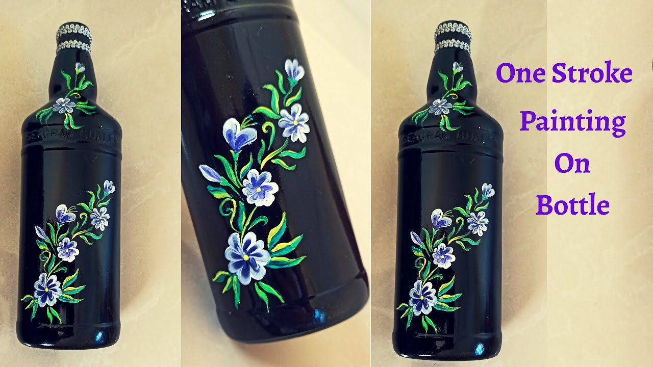 Easy One Stroke Bottle Painting In Malayalam À´Žà´¨ À´¤ À´£ One Stroke Painting Creative Hut Malayalam Youtube