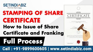 How to issue share certificate and pay stamp duty on it | Explained by Setindiabiz