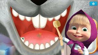 Маша и Медведь Маша Стоматолог Лечит Зубки Зайчику