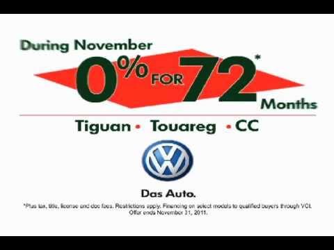 The Autobarn Volkswagen Nov 0 % APR for 72 Months