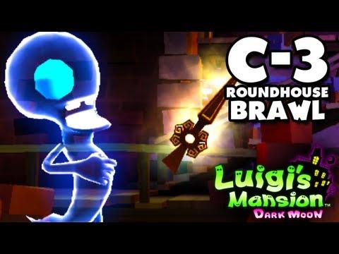 Luigi's Mansion Dark Moon - Old Clockworks - C-3 Roundhouse Brawl (Nintendo 3DS Walkthrough)