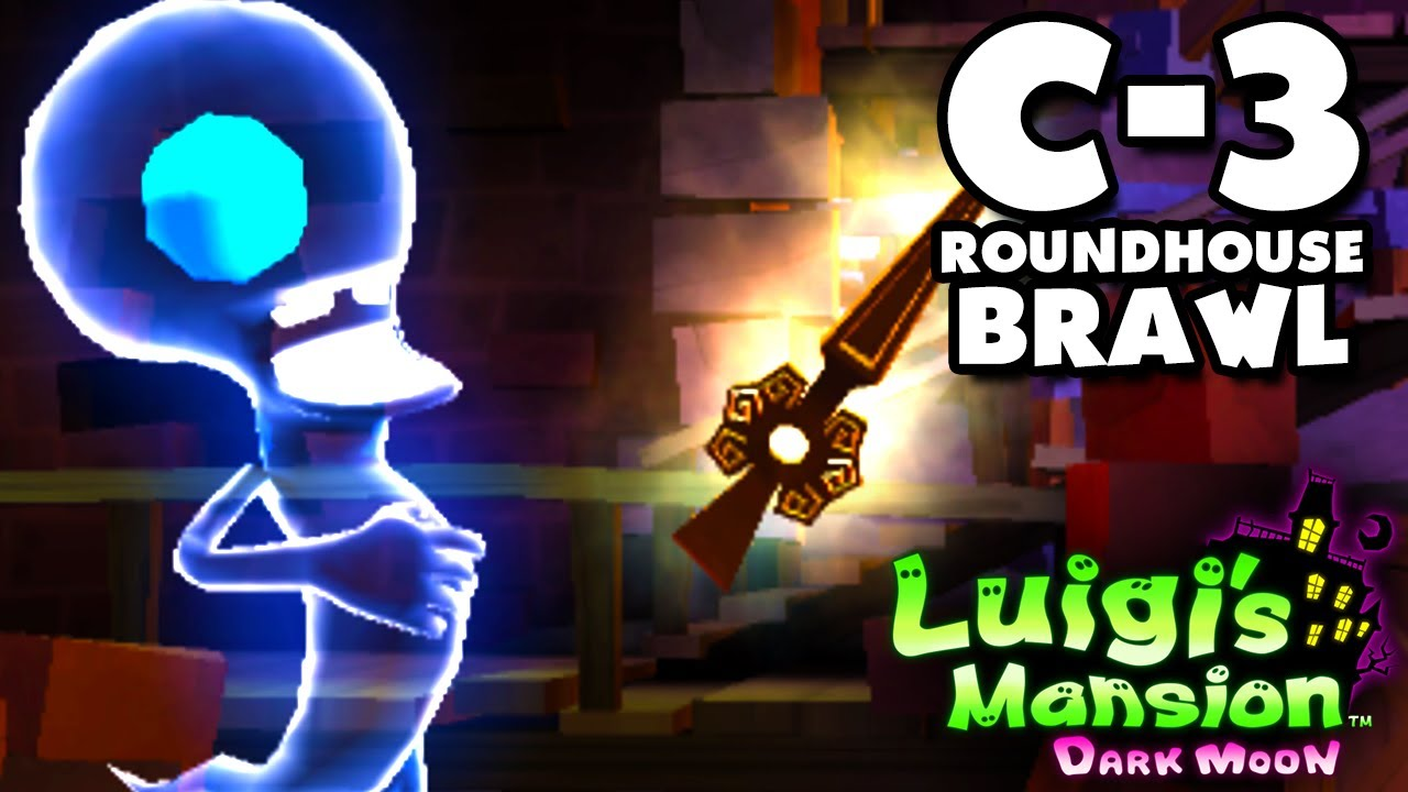 Luigi S Mansion Dark Moon Old Clockworks C 3 Roundhouse Brawl Nintendo 3ds Walkthrough