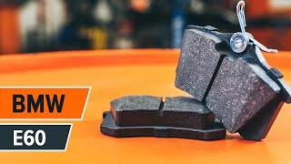 Kako zamenjati sprednji zavorni diski, sprednje zavorne ploščice na BMW 5 E60 [Vodič]