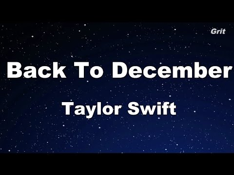 Back To December  Taylor Swift Karaoke【With Guide Melody】