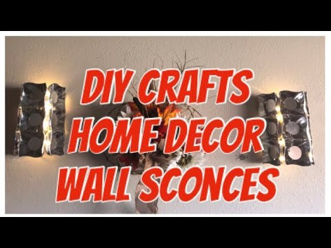 DIY Crafts| Easy Home Décor: Dollar Tree DIY Glam Wall Mirror Sconce