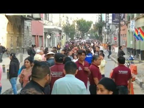 Pánico, daños y caída de un helicóptero tras nuevo sismo en México