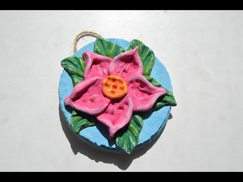 Цветы из соленого теста своими руками пошаговая инструкция фото