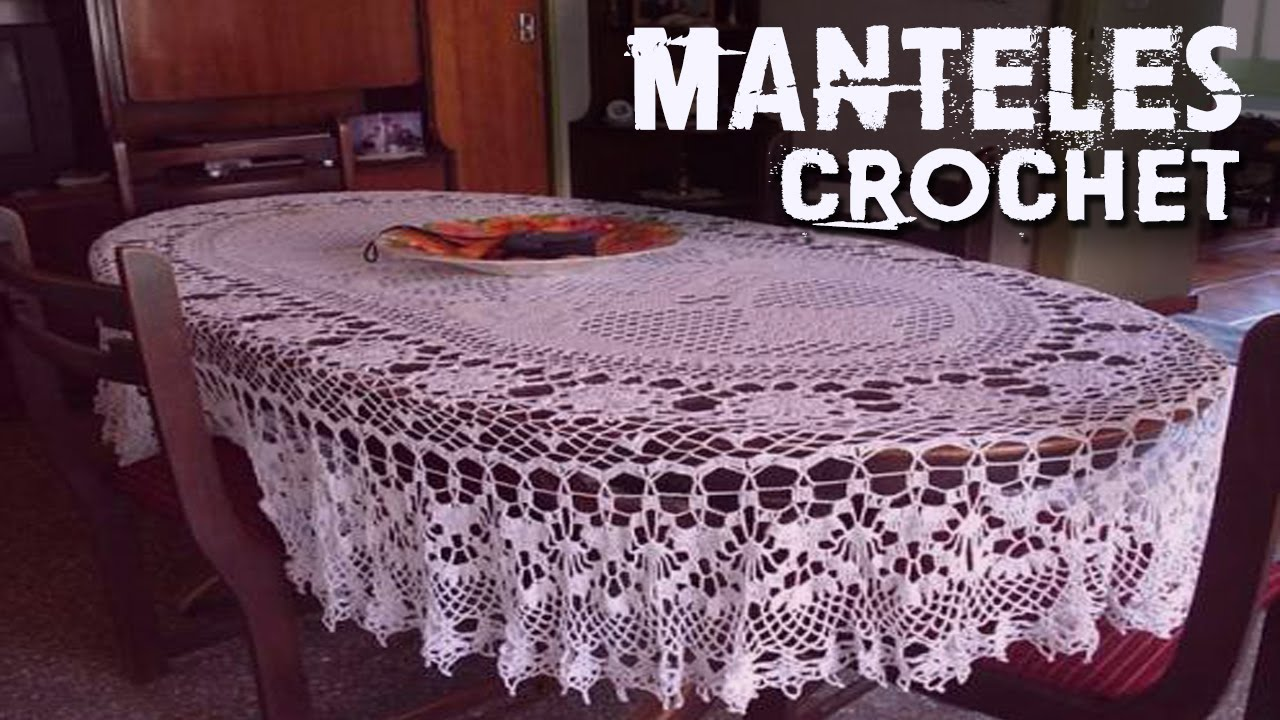 Manteles tejidos a crochet youtube for Manteles mesas grandes