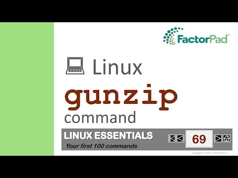 Linux gunzip command summary with examples tutorial