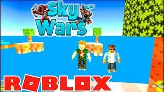 SKY WARS COM MEU AMIGO - Roblox